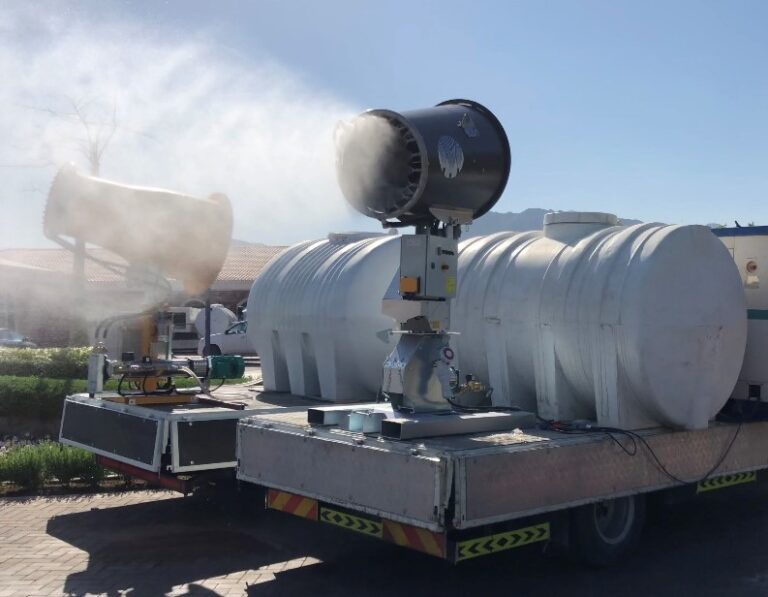 Misting Cannon for large area disinfection and sanitization